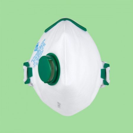 FS FFP2 blue face mask with valve and double elastic bands